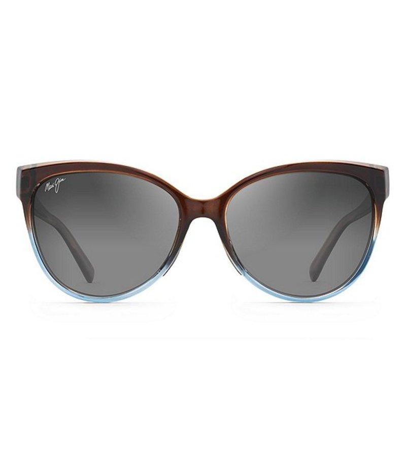 マウイジム レディース サングラス・アイウェア アクセサリー 'Olu 'Olu Polarized Cat Eye Sunglasses Translucent Dark Chocolate