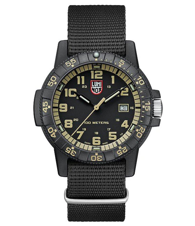 ルミノックス メンズ 腕時計 アクセサリー Leatherback Sea Turtle Watch Black