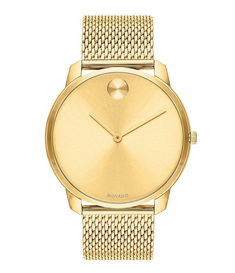 モバード メンズ 腕時計 アクセサリー Gold Stainless Steel Mesh Bracelet Watch Gold