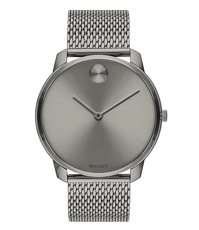 モバード メンズ 腕時計 アクセサリー Grey IP Stainless Steel Mesh Bracelet Watch Gray