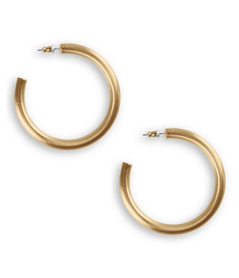 ラッキーブランド レディース ピアス・イヤリング アクセサリー Large Tubular Hoop Earrings Gold