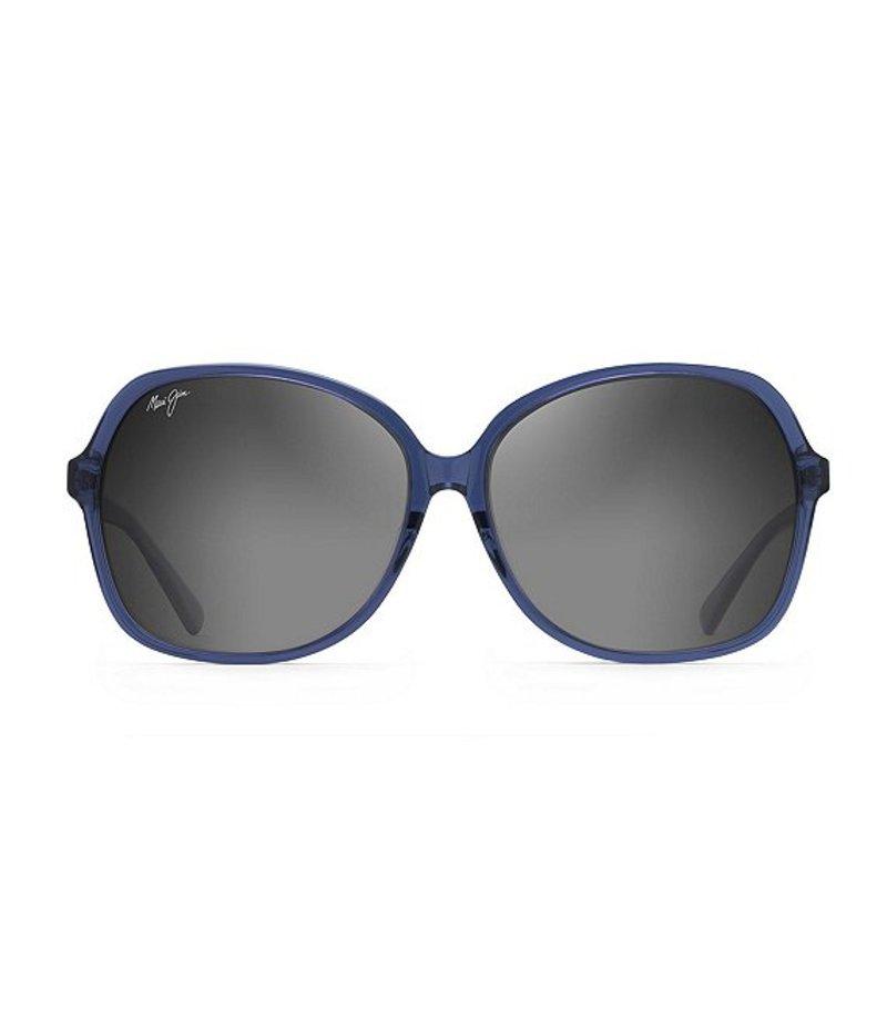 マウイジム レディース サングラス・アイウェア アクセサリー Taro Polarized Sunglasses Navy with Light Blue