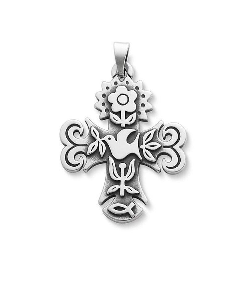 ジェームズ エイヴリー レディース ネックレス・チョーカー アクセサリー La Primavera Medium Cross Pendant Sterling Silver