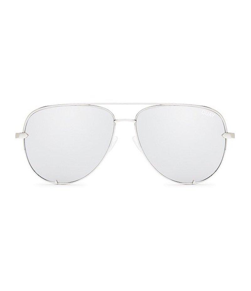 クアイオーストラリア レディース サングラス・アイウェア アクセサリー #QUAYXDESI High Key Mirrored Aviator Sunglasses Silver