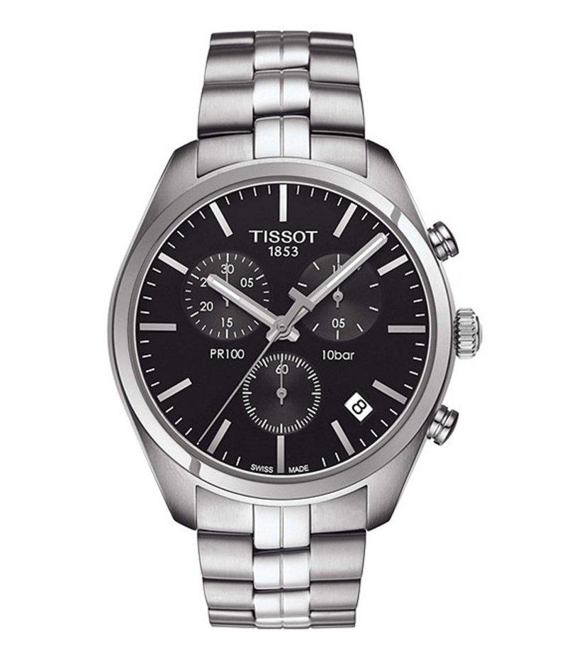 ティソット メンズ 腕時計 アクセサリー T-Classic PR 100 Chronograph & Date Bracelet Watch Silver