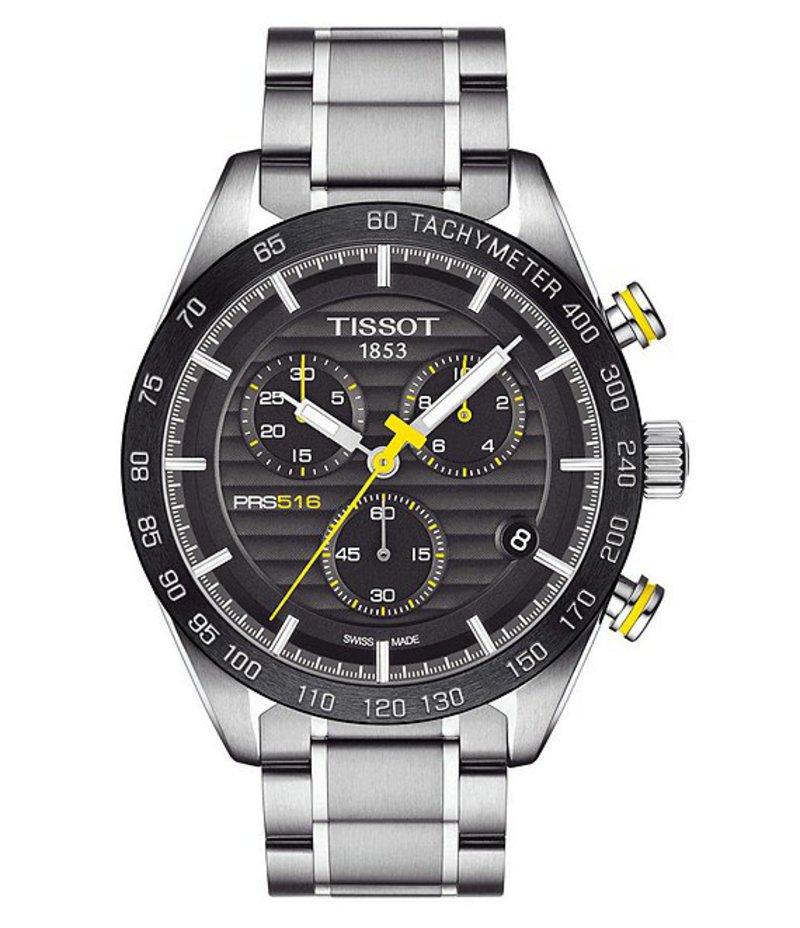 ティソット メンズ 腕時計 アクセサリー T-Sport PRS 516 Chronograph Watch Silver