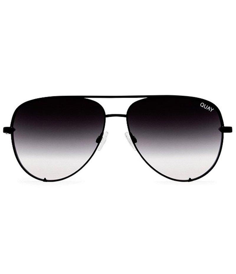 クアイオーストラリア レディース サングラス・アイウェア アクセサリー #QUAYXDESI High Key Mini Mirrored Aviator Sunglasses Black/Fade