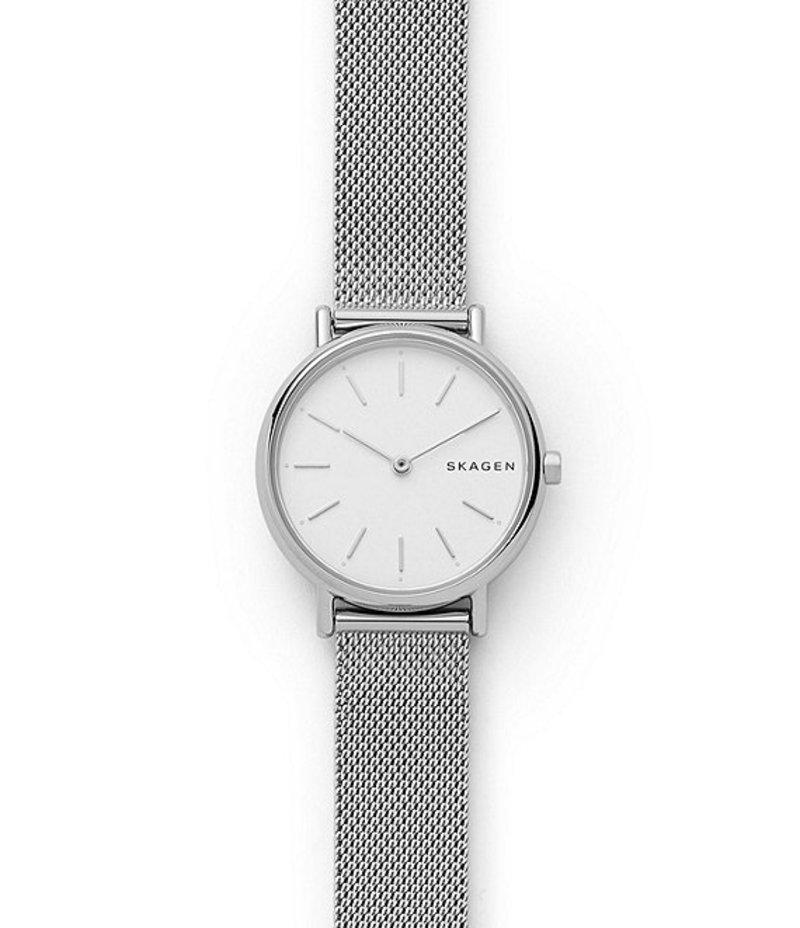 スカーゲン レディース 腕時計 アクセサリー Signatur Slim Steel-Mesh Watch Silver