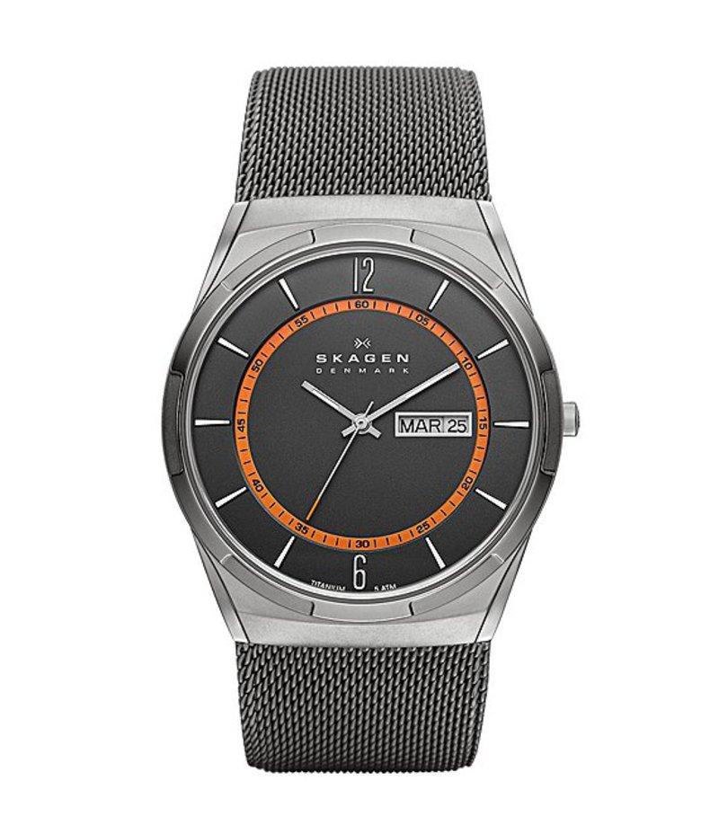スカーゲン メンズ 腕時計 アクセサリー Melbye Steel Mesh and Titanium Watch Gunmetal
