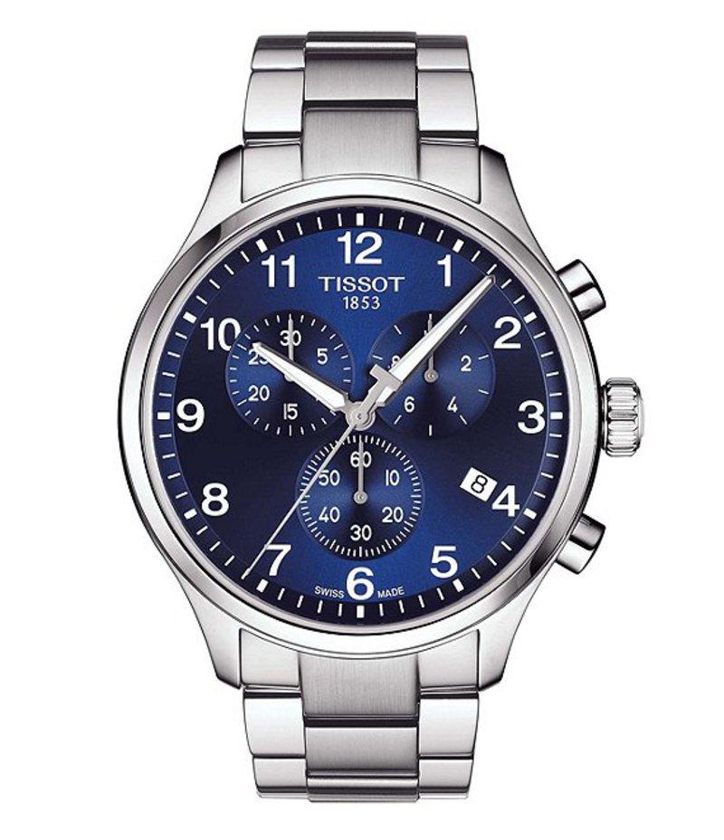 ティソット メンズ 腕時計 アクセサリー Chrono XL Classic Stainless Steel Bracelet Watch Blue