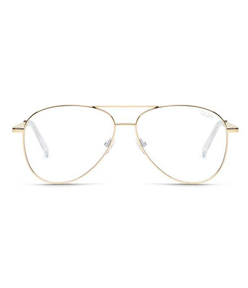 送料無料 サイズ交換無料 クアイオーストラリア レディース アクセサリー 奉呈 送料込 サングラス アイウェア Standing Light Gold Glasses Still Blue Quay