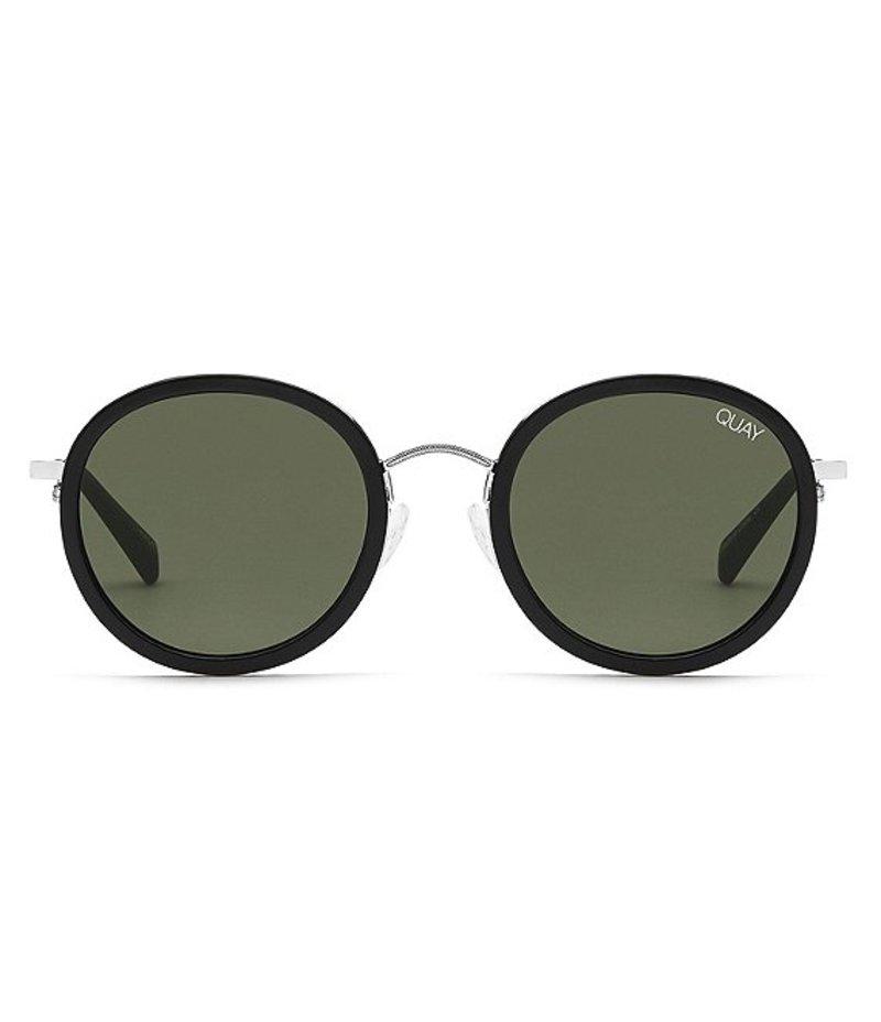 クアイオーストラリア レディース サングラス・アイウェア アクセサリー Firefly Incognito Round Sunglasses Black Green