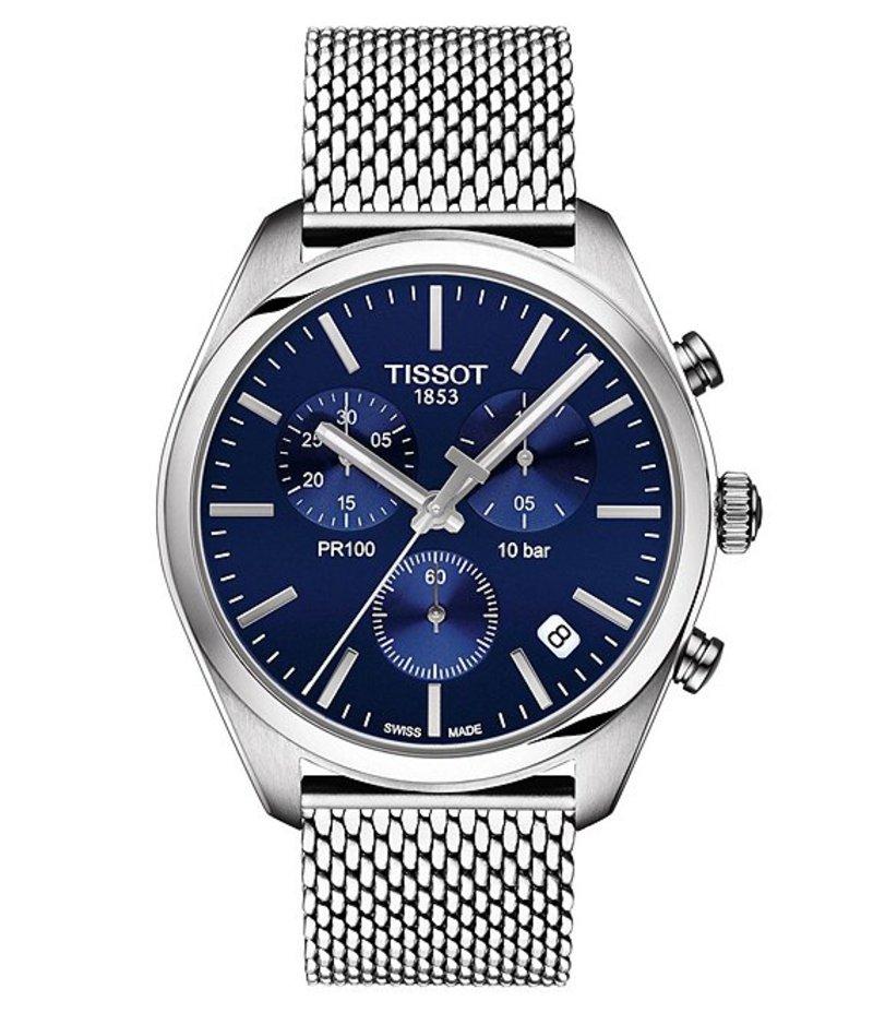 ティソット メンズ 腕時計 アクセサリー Pr 100 Chronograph Watch Silver