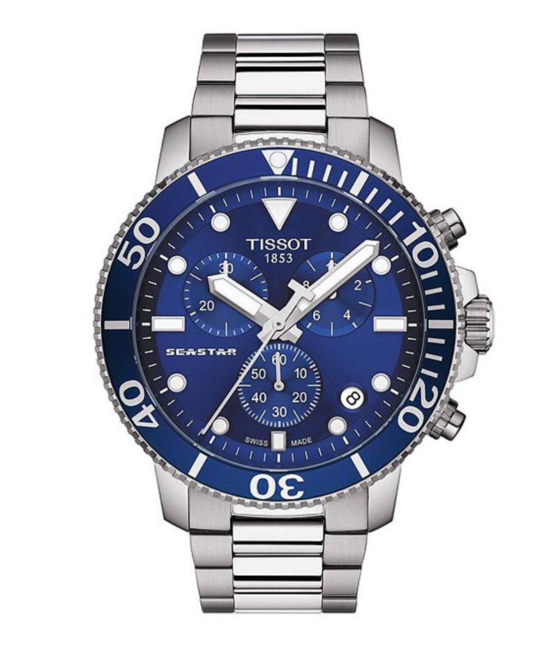 ティソット メンズ 腕時計 アクセサリー Seastar Chronograph Watch Silver