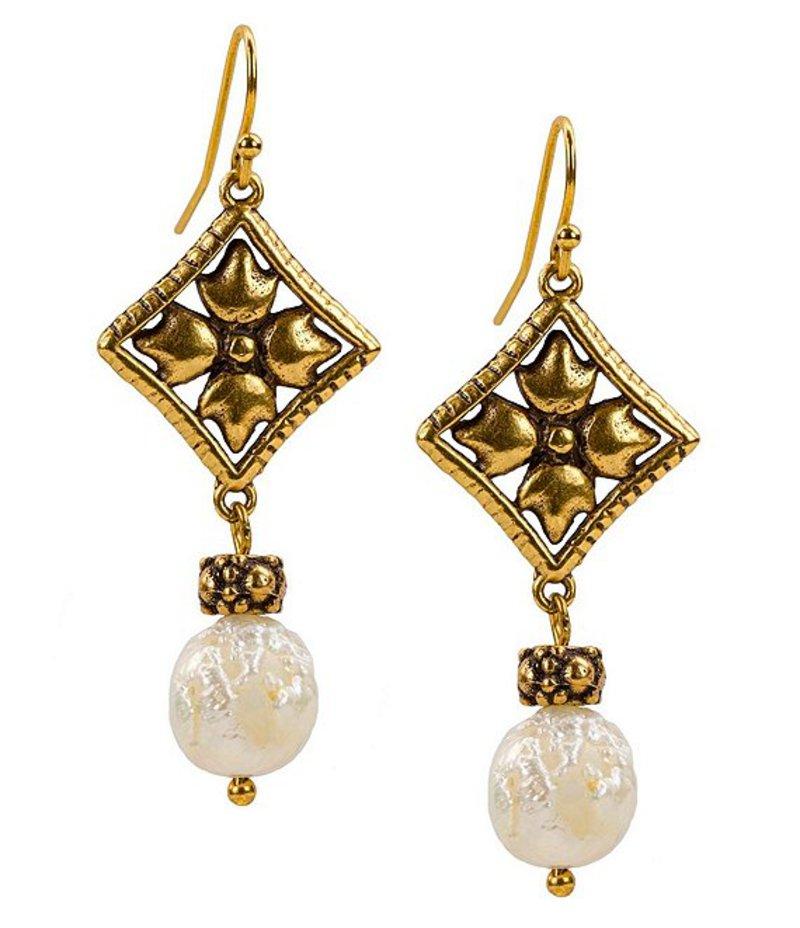 パトリシアナシュ レディース ピアス・イヤリング アクセサリー The Caged Floret Charm Dangle Earrings Gold