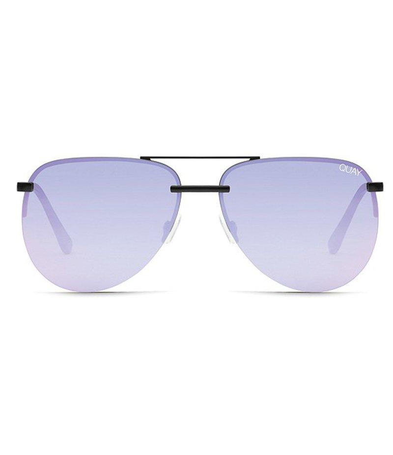 クアイオーストラリア レディース サングラス・アイウェア アクセサリー #QUAYXJLO The PLAYA Sunglasses Black/Purple Revo