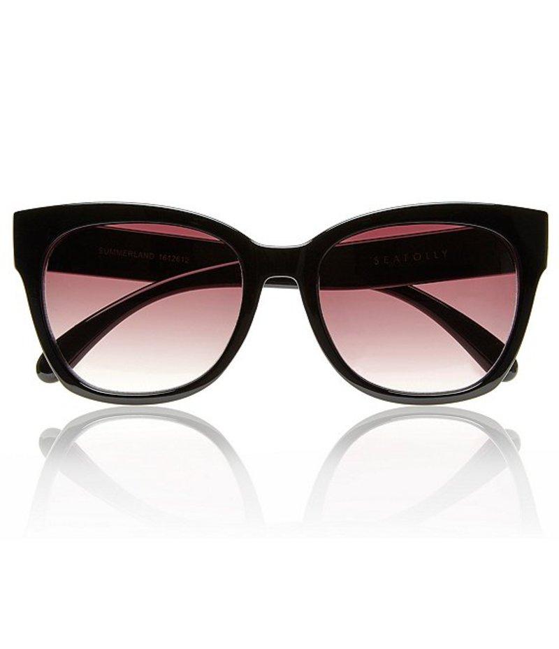 シーフォリー レディース サングラス・アイウェア アクセサリー Australia Summerland Wayfarer Sunglasses Black