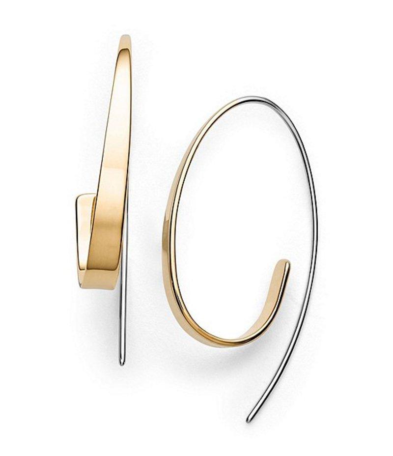 スカーゲン レディース ピアス・イヤリング アクセサリー Kariana Curl Hoop Earrings Gold