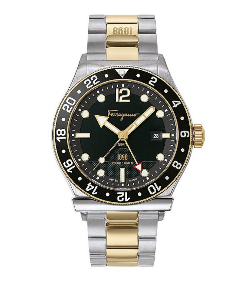 サルヴァトーレ フェラガモ メンズ 腕時計 アクセサリー 1898 Sport Two-Tone Bracelet Watch Two-Tone
