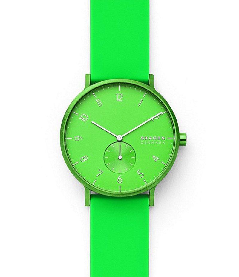 スカーゲン メンズ 腕時計 アクセサリー Aaren Kulor Neon Green Silicone Watch Neon Green