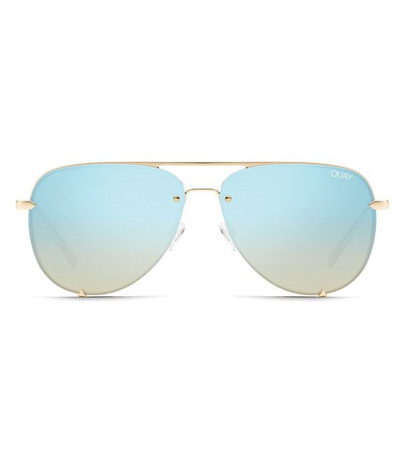 クアイオーストラリア レディース サングラス・アイウェア アクセサリー Quay #QUAYXDESI High Key Rimless Sunglasses Gold Blue Turquoise