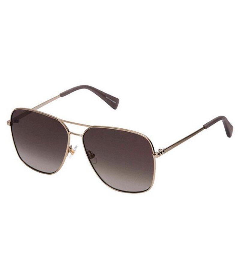 レベッカミンコフ レディース サングラス・アイウェア アクセサリー Stevie Metal Navigator Sunglasses Gold