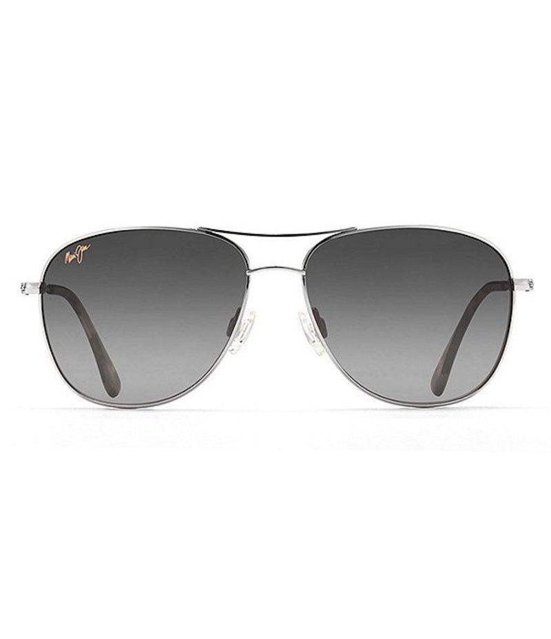 マウイジム レディース サングラス・アイウェア アクセサリー USA Cliff House Polarized Sunglasses Silver
