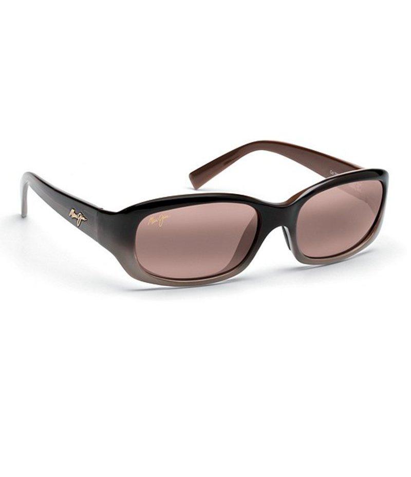マウイジム レディース サングラス・アイウェア アクセサリー Punchbowl Glare and UV Protection Polarized Sunglasses Chocolate
