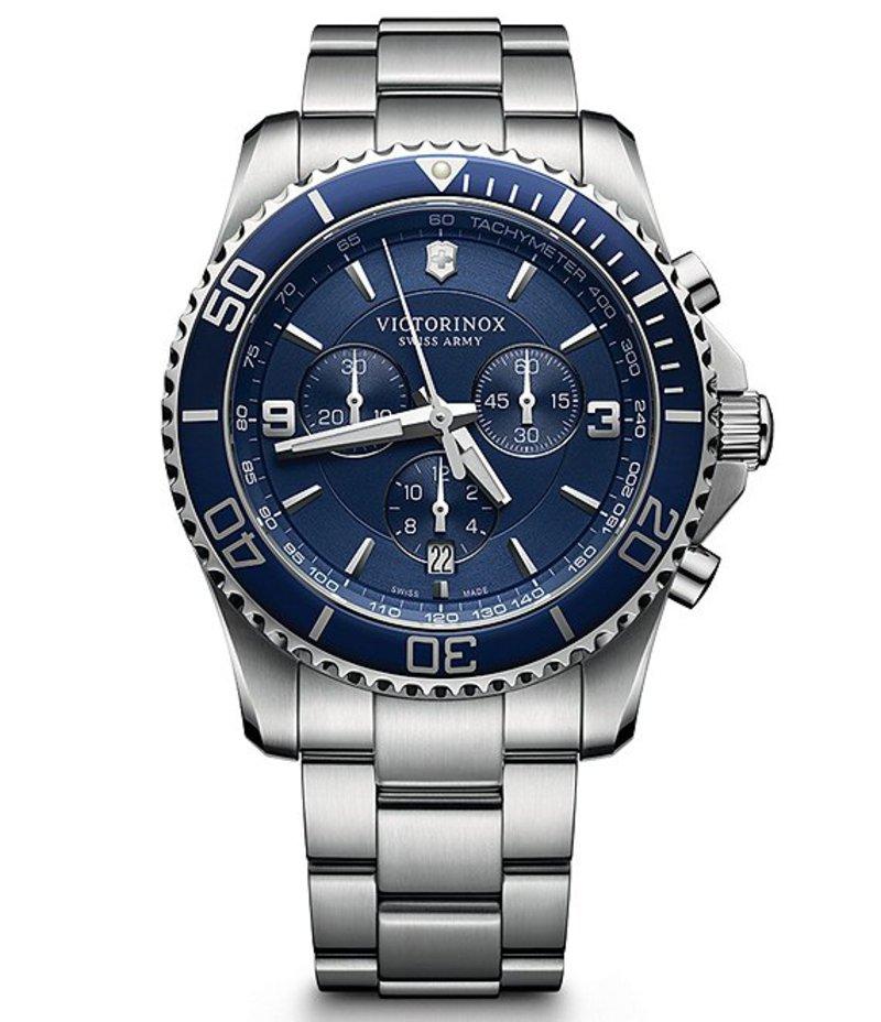 ビクトリノックス メンズ 腕時計 アクセサリー Maverick Chronograph Bracelet Watch Blue