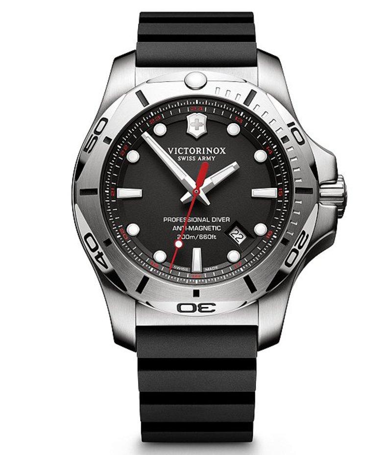 ビクトリノックス メンズ 腕時計 アクセサリー I.N.O.X. Luminescent Analog Professional Diver Watch BLACK