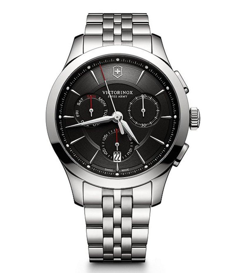 ビクトリノックス メンズ 腕時計 アクセサリー Alliance Chronograph Stainless Steel Bracelet Watch Silver