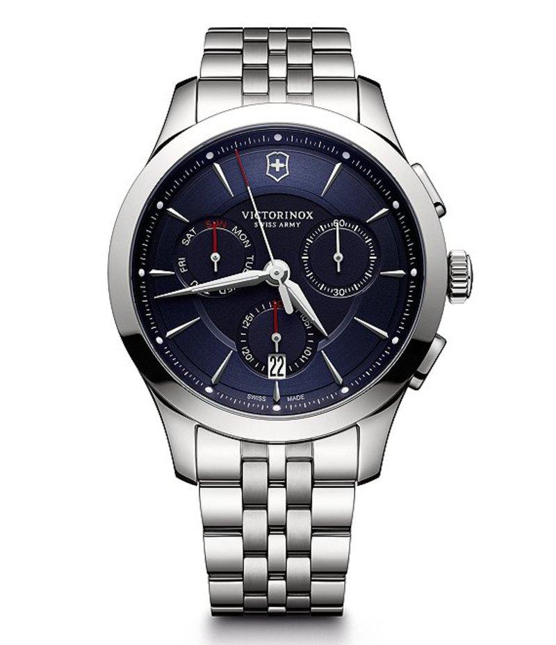 ビクトリノックス メンズ 腕時計 アクセサリー Alliance Chronograph & Date Stainless Steel Bracelet Watch Silver