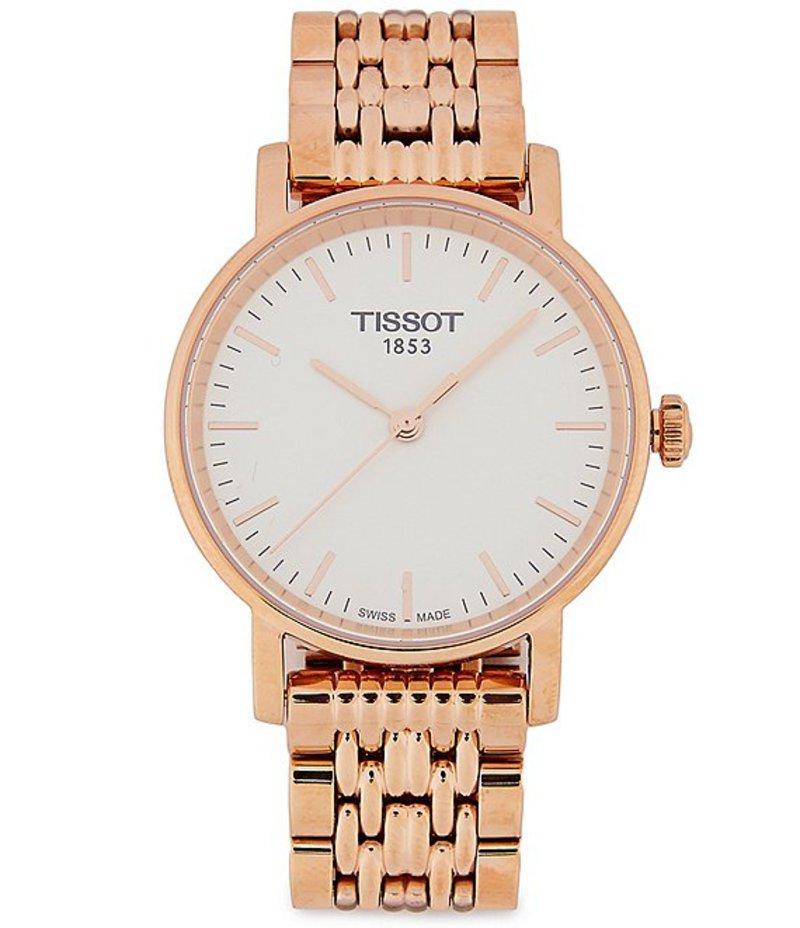 ティソット メンズ 腕時計 アクセサリー T-Classic Everytime Analog Bracelet Watch Rose Gold