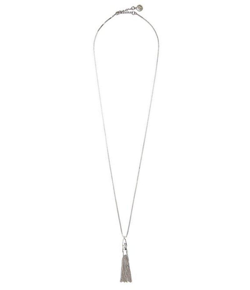 ヴィンスカムート レディース ネックレス・チョーカー アクセサリー Long Chain-Tasseled Necklace Silver
