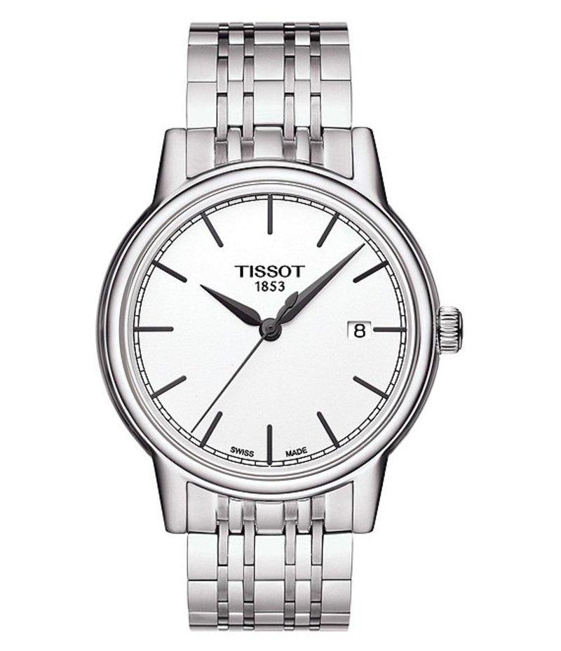 ティソット メンズ 腕時計 アクセサリー T-Classic Carson Analog & Date 40 MM Bracelet Watch Silver