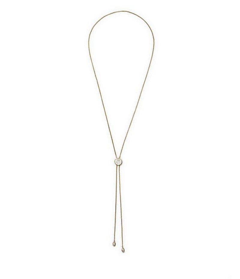 ヴィンスカムート レディース ネックレス・チョーカー アクセサリー Pave Slider Y-Necklace Gold/Crystal