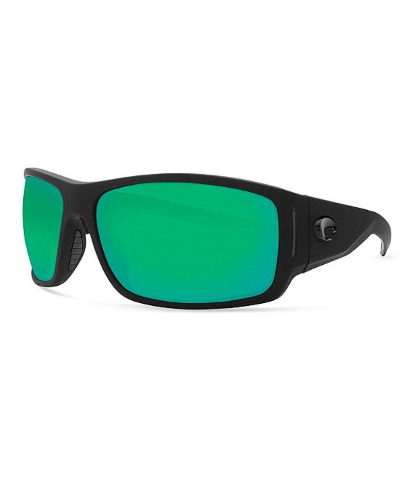 コスタ レディース サングラス・アイウェア アクセサリー Cape Polarized Sunglasses Matte Black Green Mirror