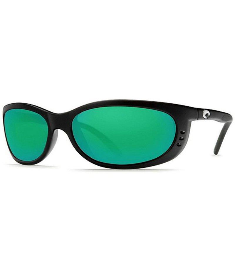 コスタ メンズ サングラス・アイウェア アクセサリー Fathom Green Polarized Sunglasses Black Green Mirror