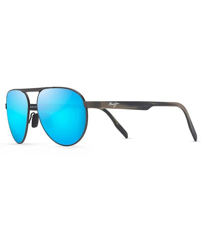 マウイジム レディース サングラス・アイウェア アクセサリー Swinging Bridges Polarized Sunglasses Brushed Dark Gunmetal
