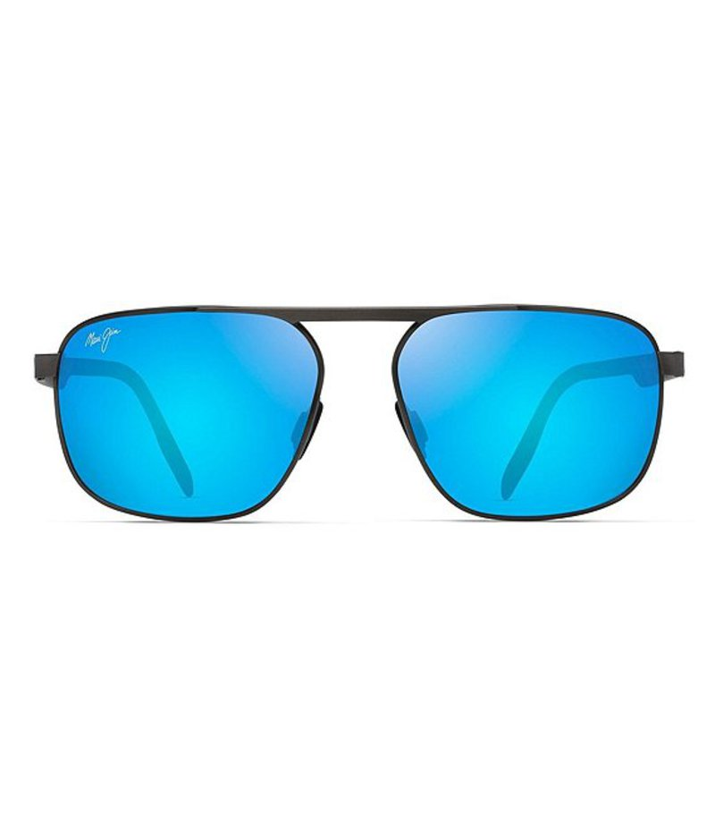 マウイジム レディース サングラス・アイウェア アクセサリー Waihee Ridge Polarized Aviator Sunglasses Brushed Dark Gunmetal
