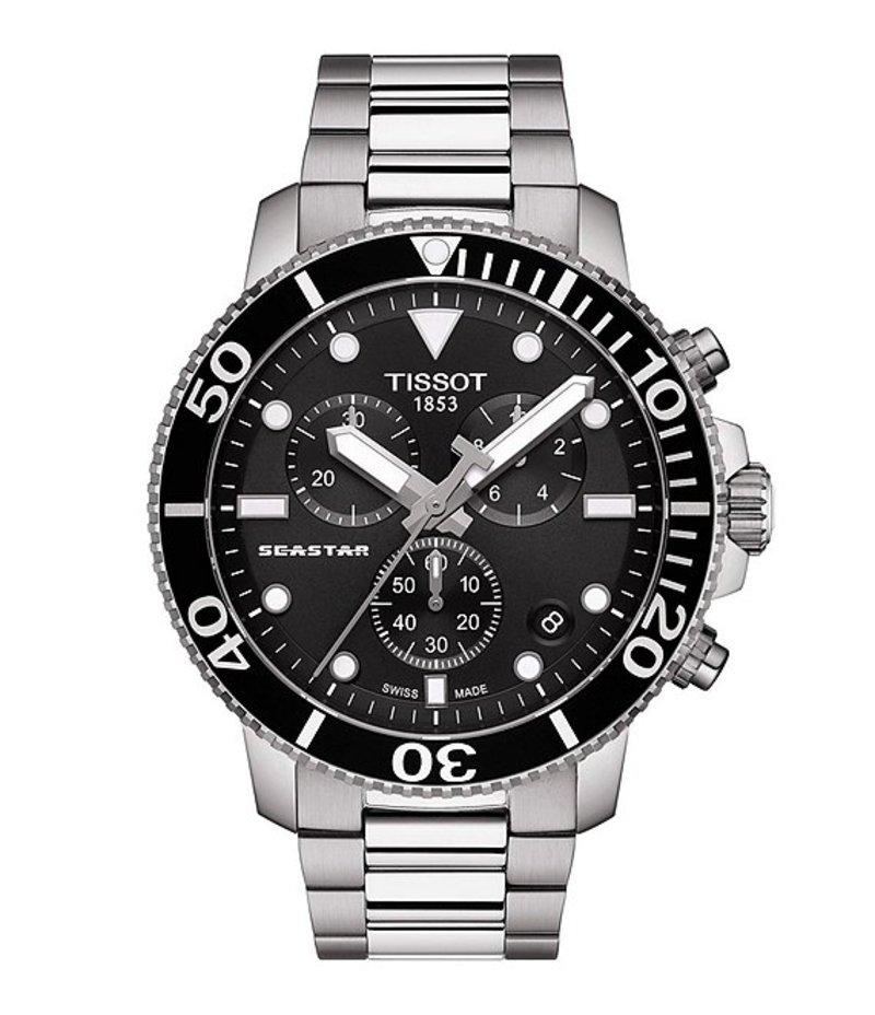 ティソット メンズ 腕時計 アクセサリー Seastar 1000 Chronograph Watch Silver