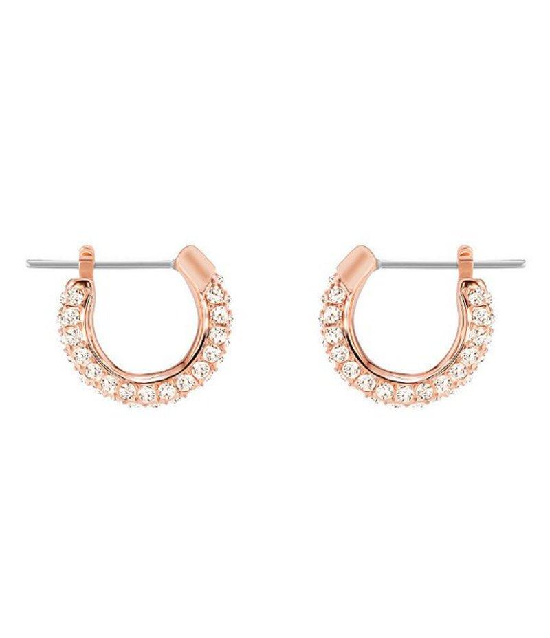 スワロフスキー レディース ピアス・イヤリング アクセサリー Stone Small Pierced Hoop Earrings Rose/Cry
