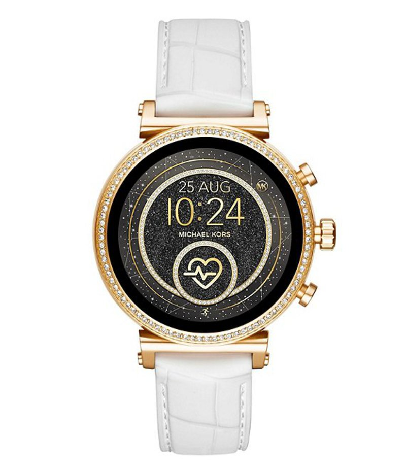 マイケルコース レディース 腕時計 アクセサリー Access Sofie Heart Rate Touchscreen Digital Smartwatch White