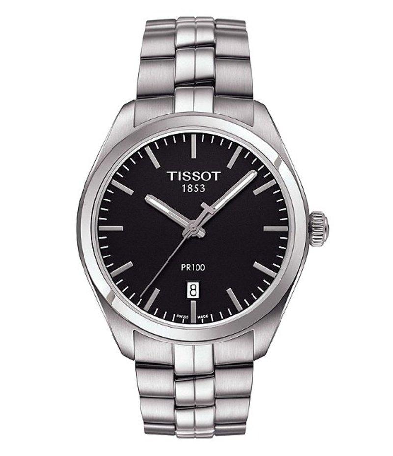 ティソット メンズ 腕時計 アクセサリー PR 100 Analog & Date Bracelet Watch Silver