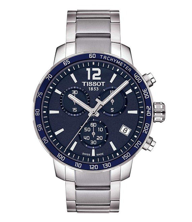 ティソット メンズ 腕時計 アクセサリー T-Sport Quickster Chronograph & Date Bracelet Watch Silver
