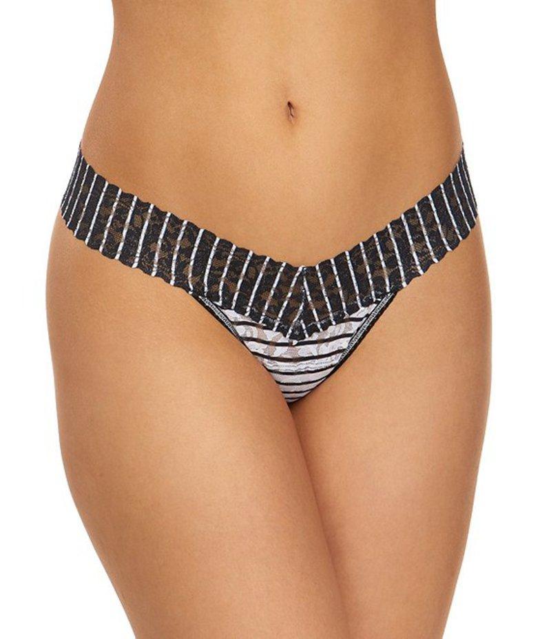 ハンキーパンキー レディース パンツ アンダーウェア Inside Out Stripe Low Rise Thong White/Black