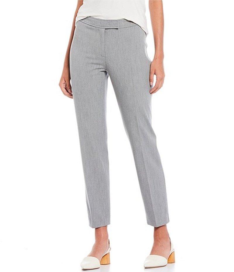 アンクライン レディース デニムパンツ ボトムス Stretch Twill Slim Straight Leg Ankle Pants Heather Grey