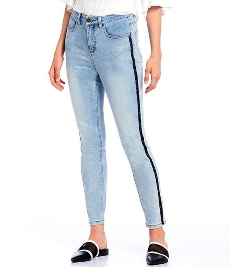 ギブソンアンドラティマー レディース デニムパンツ ボトムス Skinny Denim Side Trim Ankle Jeans Medium Blue