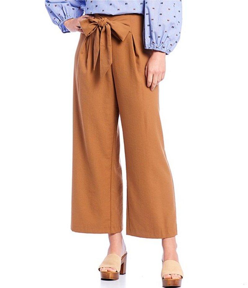 ダニエル クレミュ レディース カジュアルパンツ ボトムス Mara Bow Front Wide Leg Crop Pant Chestnut