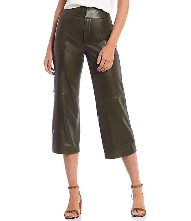 ジャンビニ レディース カジュアルパンツ ボトムス Gabi Genuine Leather Crop Culotte Pants Olive